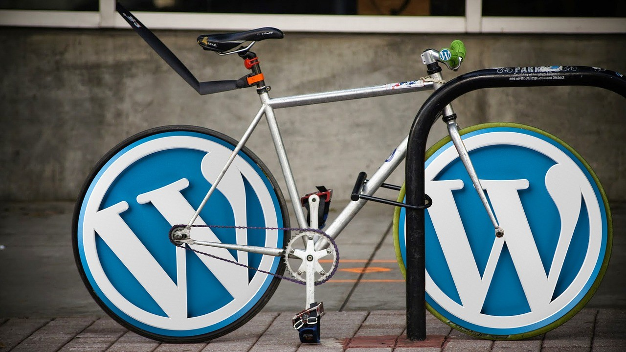 wordpress speed - bicycle with icons